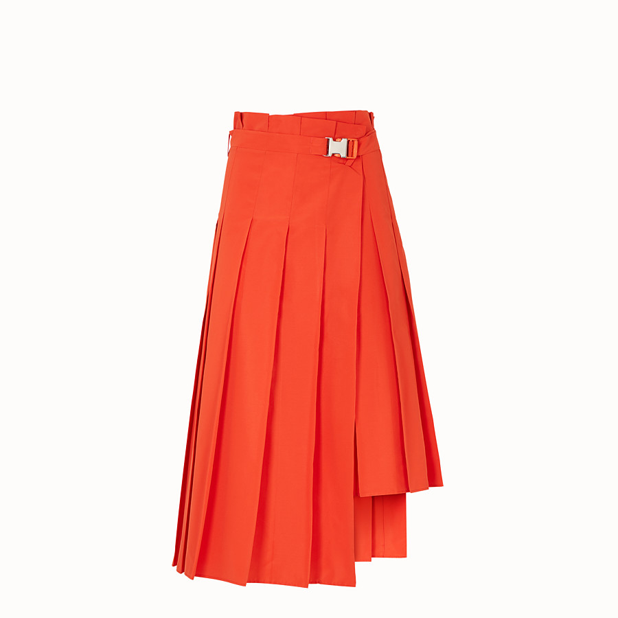 FENDI SKIRT - Orange faille skirt - view 1 detail