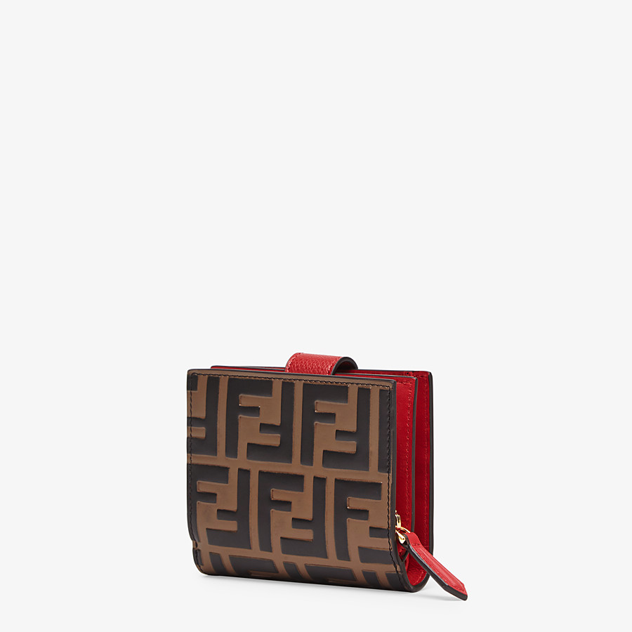 FENDI BIFOLD - Red leather compact wallet - view 2 detail