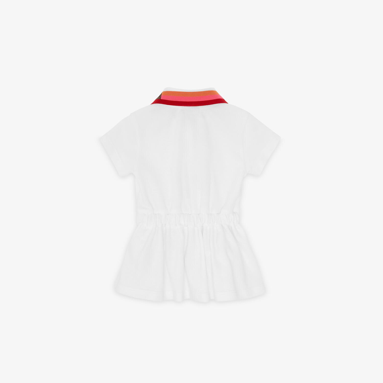 FENDI ROBE BÉBÉ FILLE - Robe bébé fille en piqué blanc - view 2 detail
