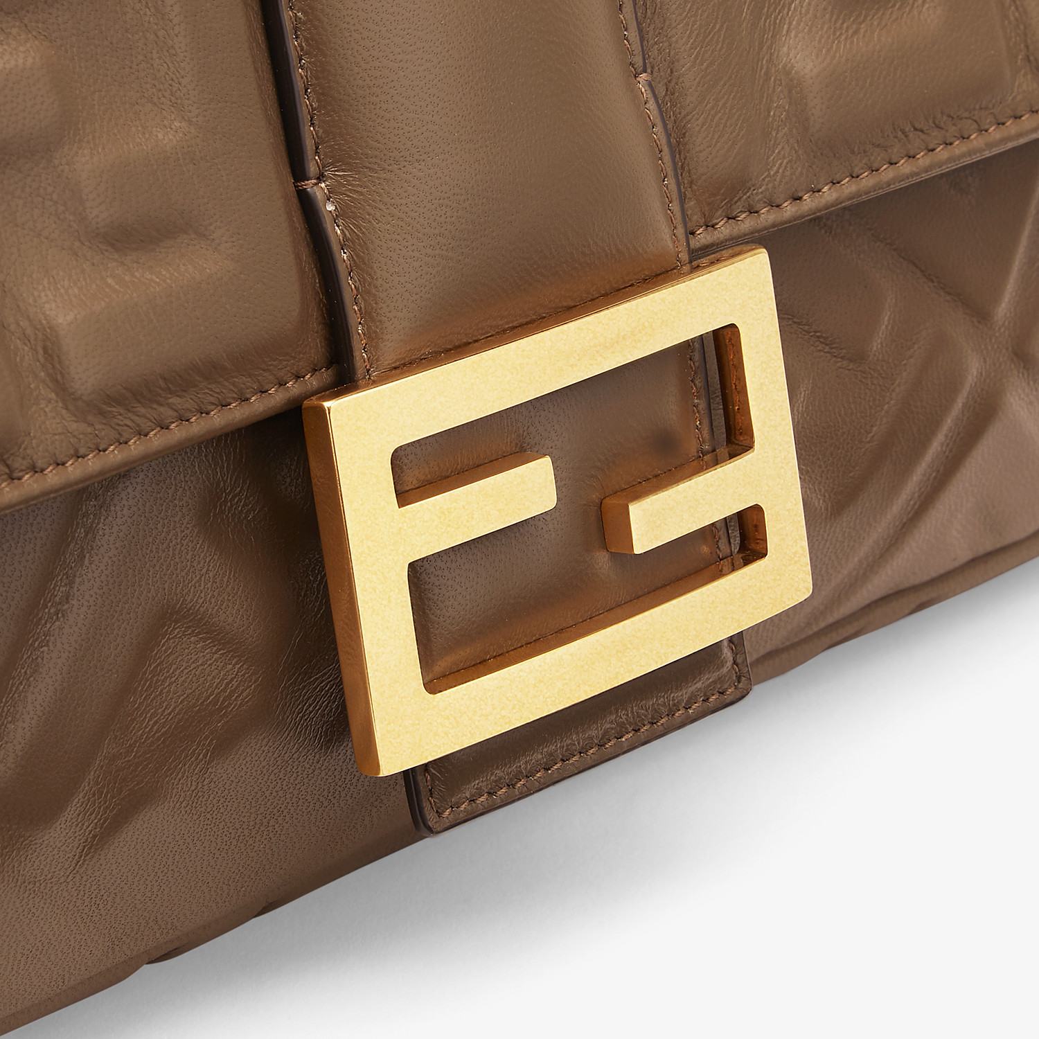 FENDI BAGUETTE LARGE - Brown nappa leather bag - view 5 detail