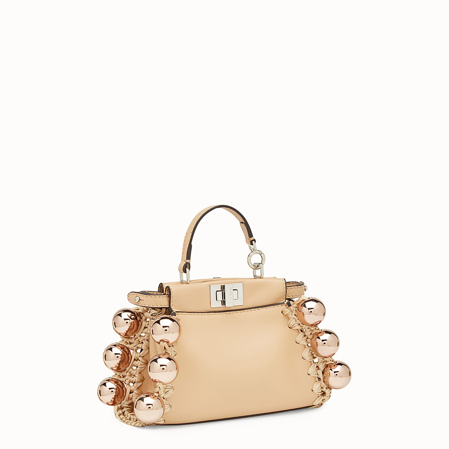 FENDI MICRO PEEKABOO - Pink leather micro-bag - view 2 detail