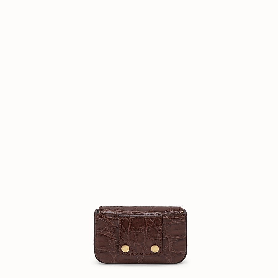 FENDI MICRO BAGUETTE - Brown cayman charm - view 3 detail