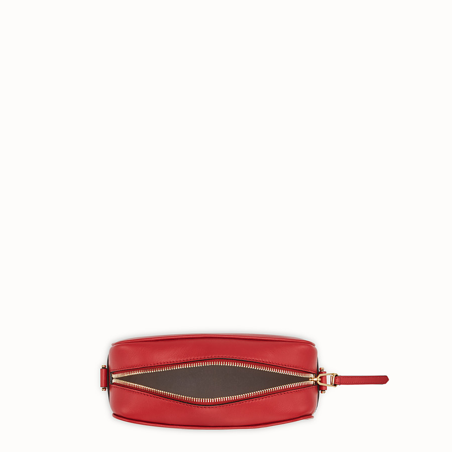 FENDI CAMERA CASE - Red leather bag - view 4 detail