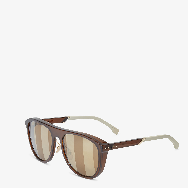 FENDI BOTANICAL FENDI - Brown sunglasses - view 2 detail