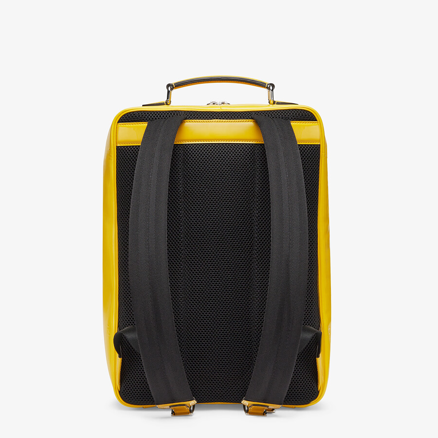 FENDI TRAVEL BACKPACK - Yellow leather backpack - view 3 detail