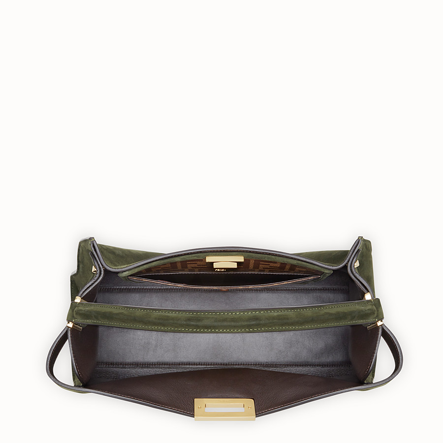FENDI PEEKABOO X-LITE - Green suede bag - view 5 detail