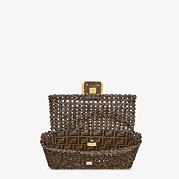 FENDI BAGUETTE - Tasche aus Stoff in Interlace Jacquard - view 5 thumbnail