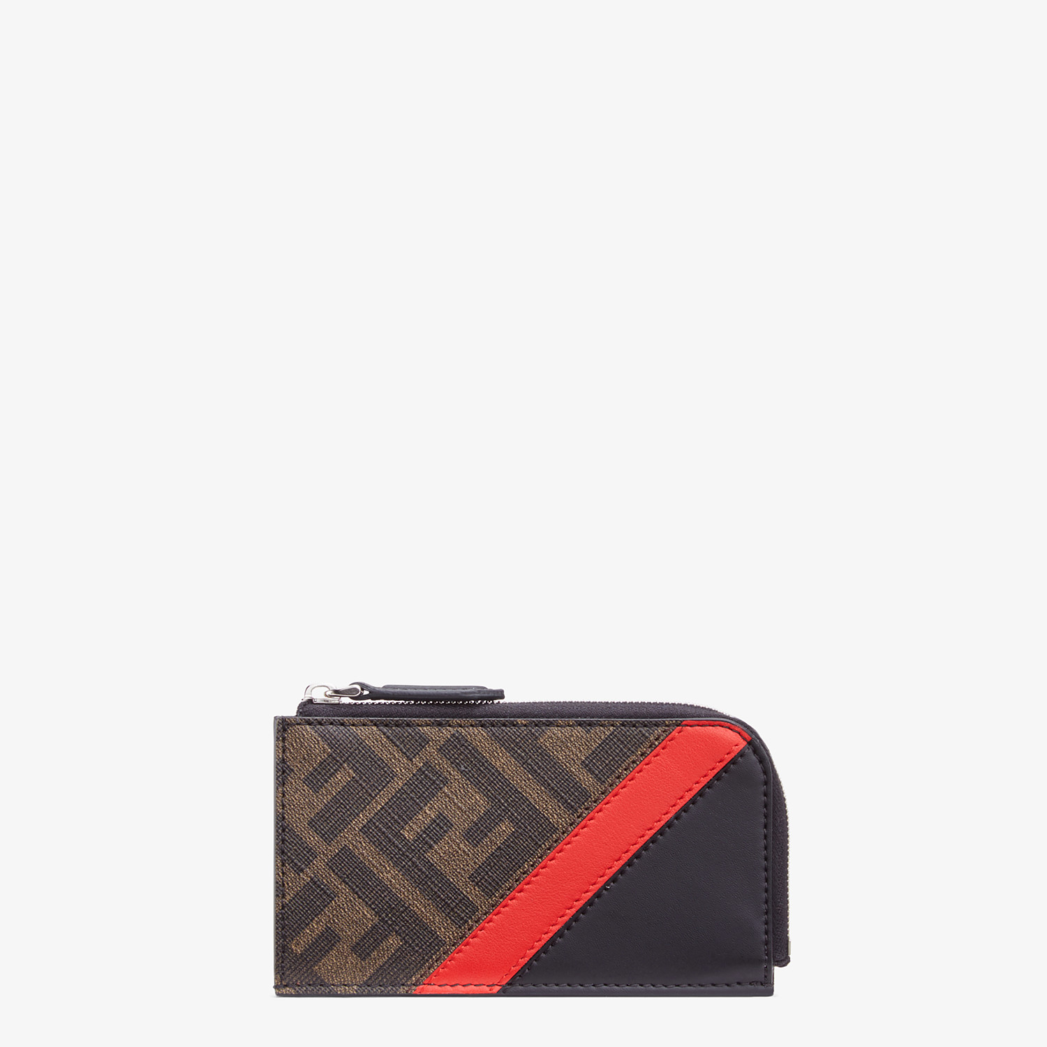 FENDI COIN PURSE - Brown fabric pouch - view 1 detail