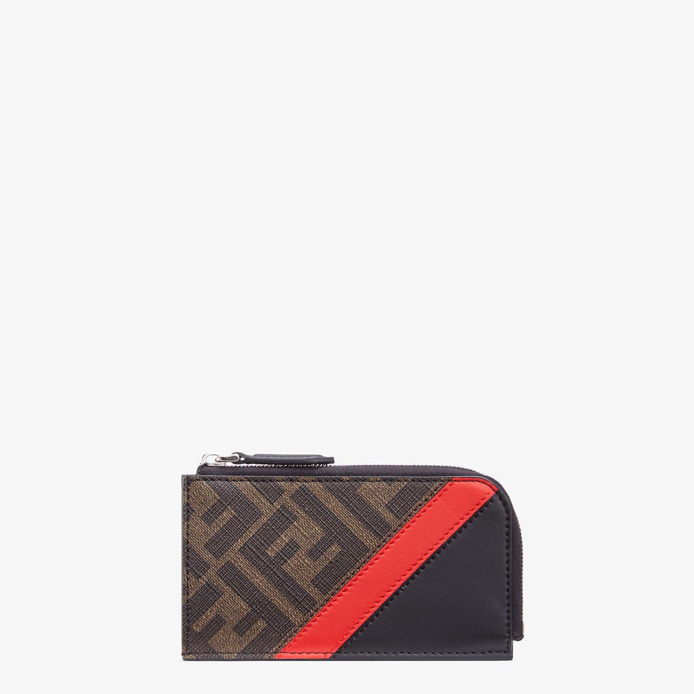 FENDI COIN PURSE - Brown fabric pouch - view 1 detail