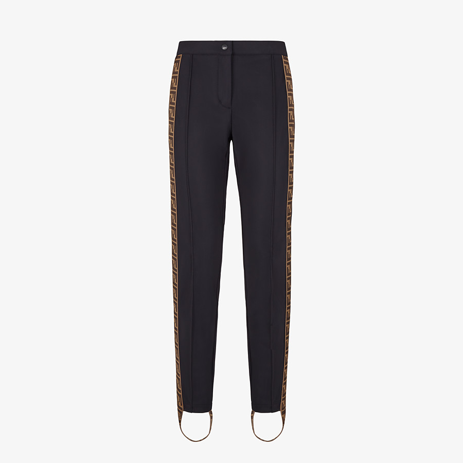 FENDI SKI LEGGINGS - Black stretch fabric ski leggings - view 1 detail