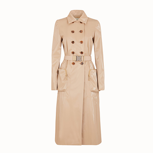 FENDI COAT - Beige trench coat in nylon - view 1 small thumbnail