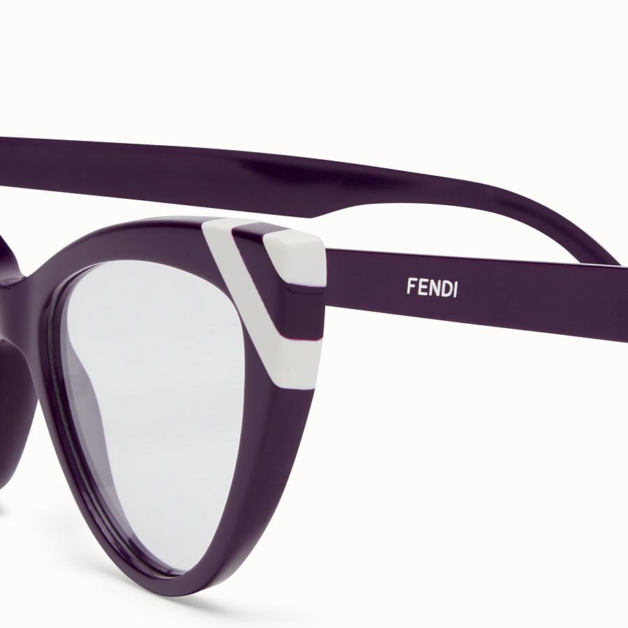 FENDI WAVES - Sunglasses with transparent lenses - view 3 detail