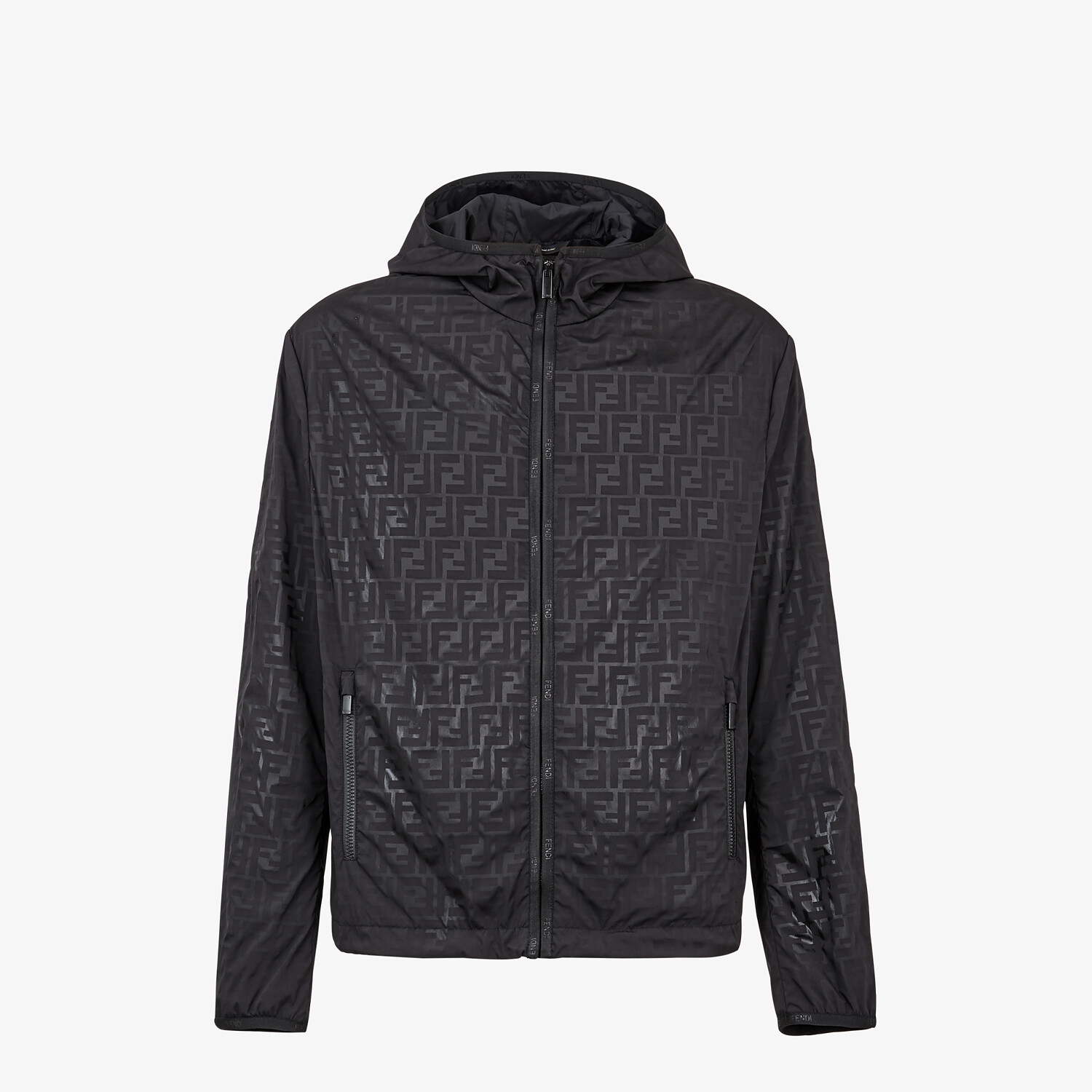 FENDI WINDBREAKER - Windbreaker in black tech fabric - view 4 detail