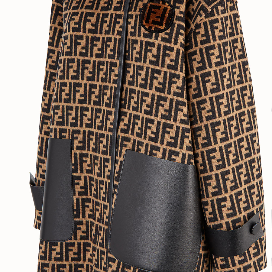 FENDI OVERCOAT - Multicolour wool jacket - view 3 detail