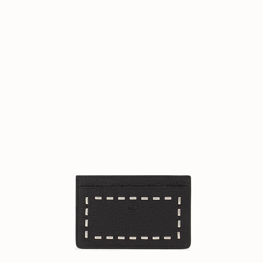 FENDI MAXI披肩 140X200 - 配以4個黑色羅馬皮革和金屬夾層 - view 1 detail