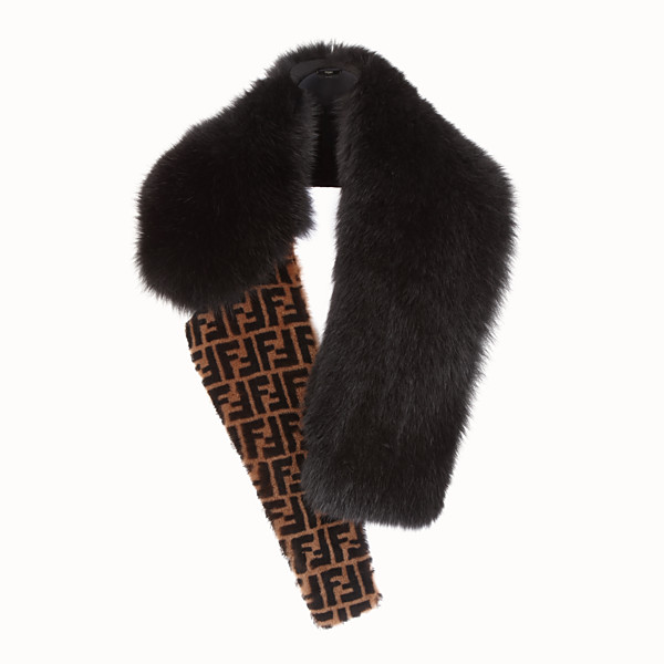 FENDI COLLAR - Black fox fur collar - view 1 small thumbnail