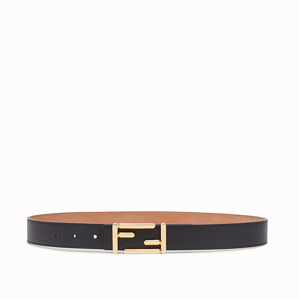 FENDI BAGUETTE BELT - in black calfskin - view 1 small thumbnail