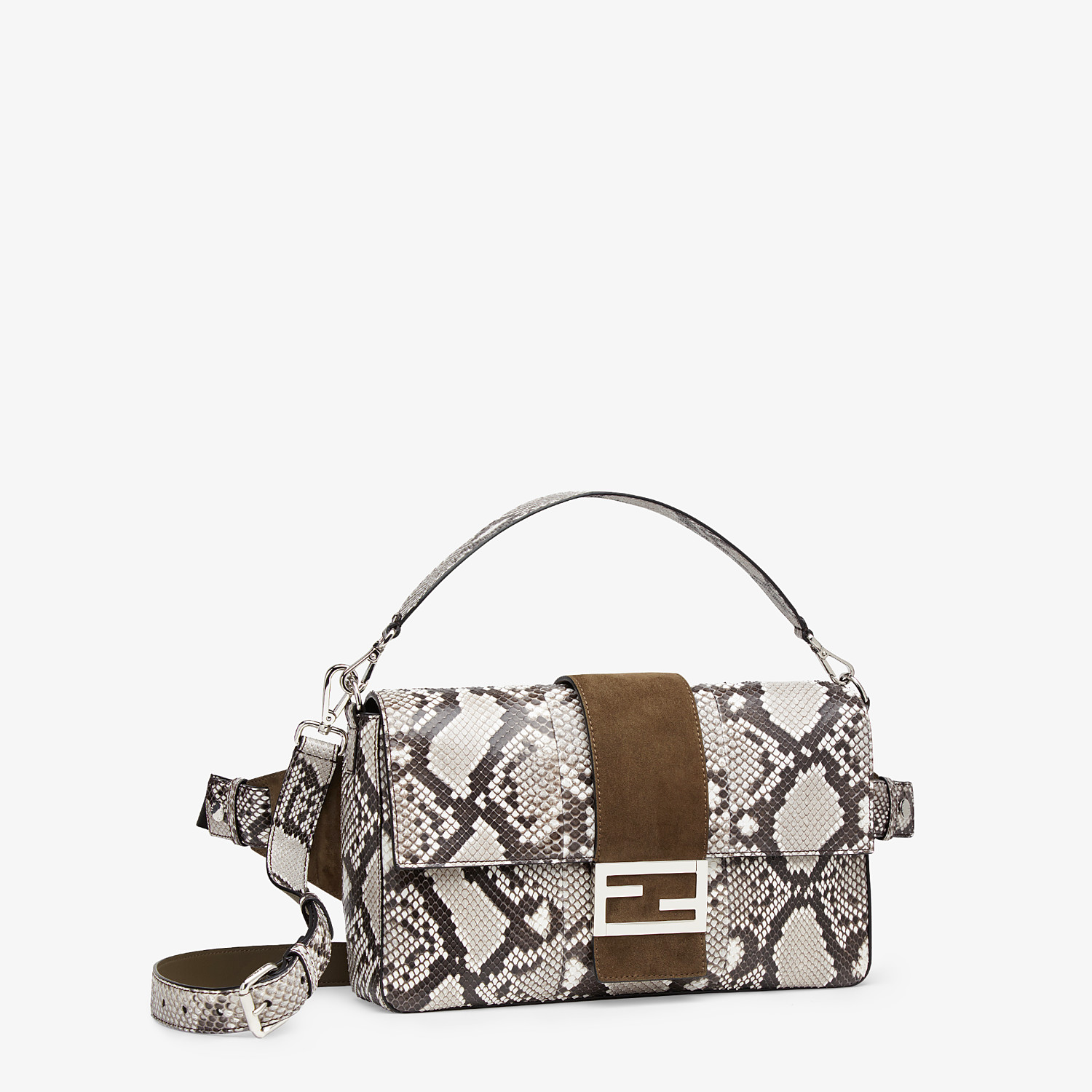 FENDI BAGUETTE LARGE - White python bag - view 2 detail