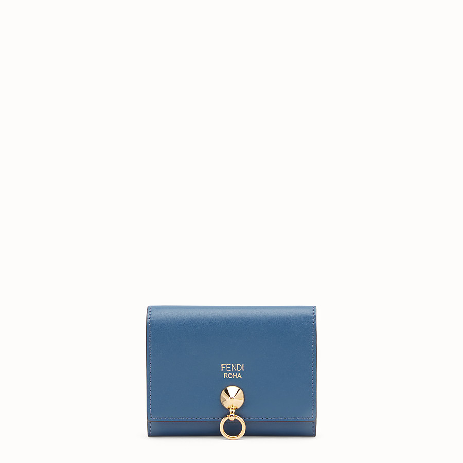 FENDI CARD HOLDER - Blue leather business card holder - view 1 detail