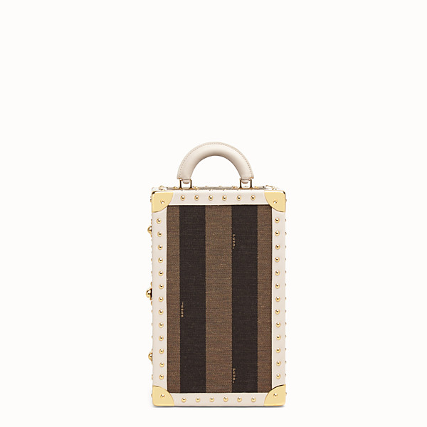 FENDI TRAVEL CASE LARGE - Travel case in brown jacquard - view 1 small thumbnail