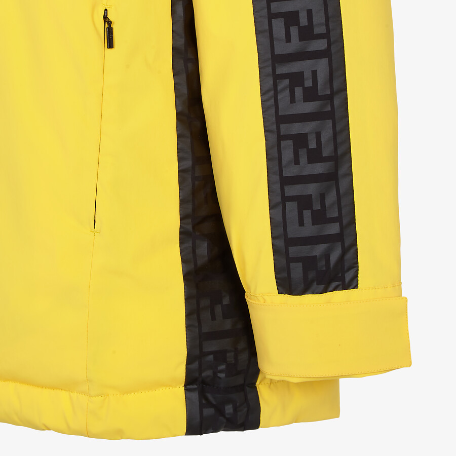 FENDI SKI JACKET - Ski jacket in yellow tech nylon - view 3 detail