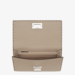 FENDI CONTINENTAL - Beige leather wallet - view 4 thumbnail