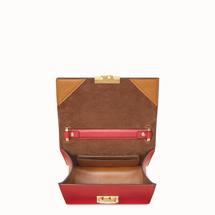 FENDI KAN U KLEIN - Mini-Tasche aus Leder in Rot - view 5 detail