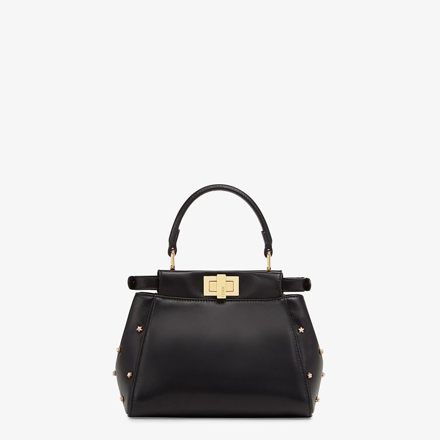 FENDI PEEKABOO ICONIC XS - Black leather mini-bag - view 3 detail