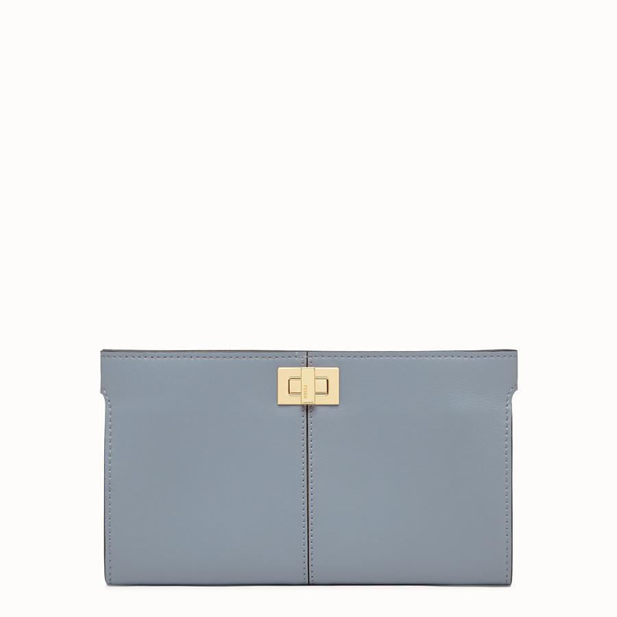 FENDI WALLET - Pale blue leather wallet - view 1 detail