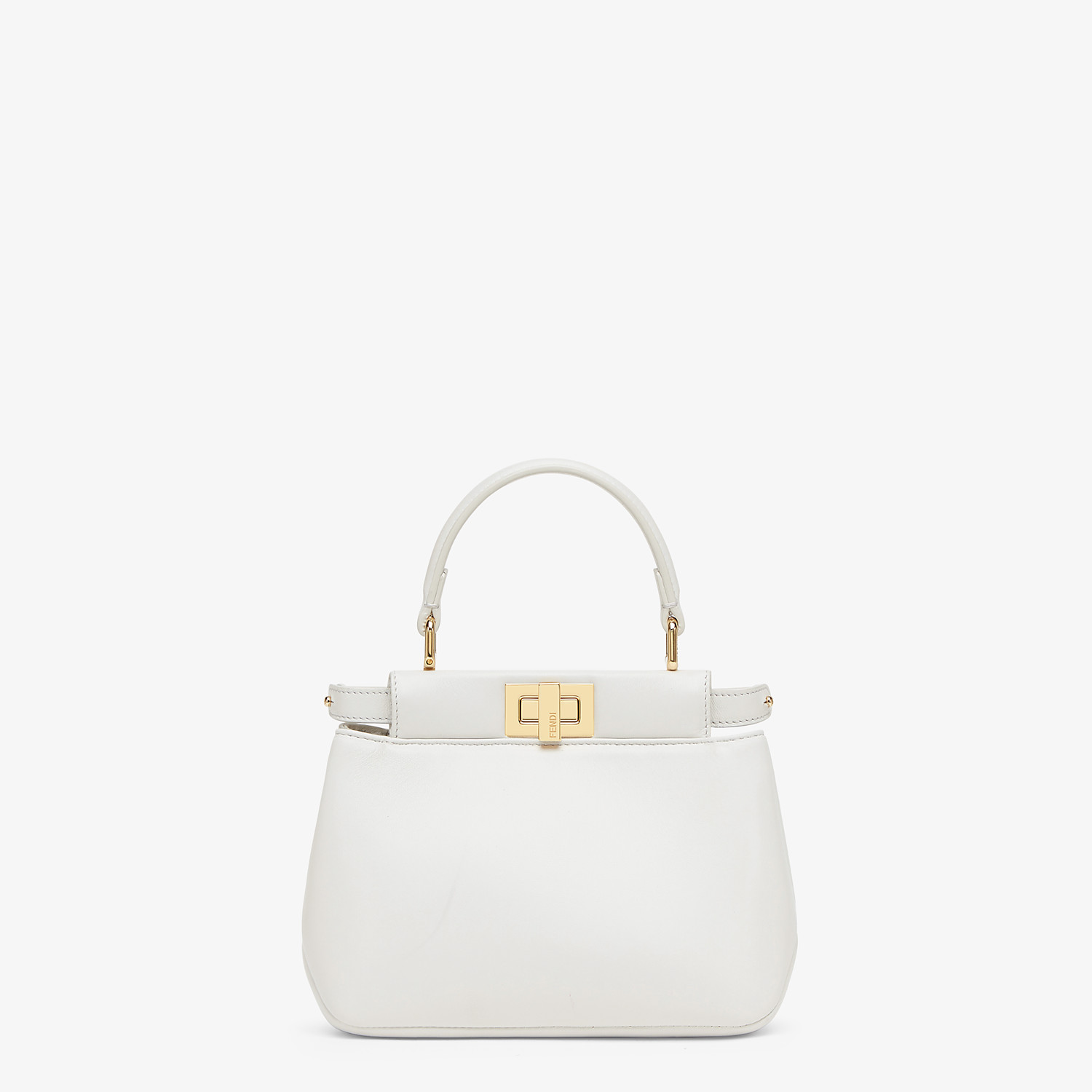 FENDI PEEKABOO ICONIC XS - White nappa leather bag - view 1 detail