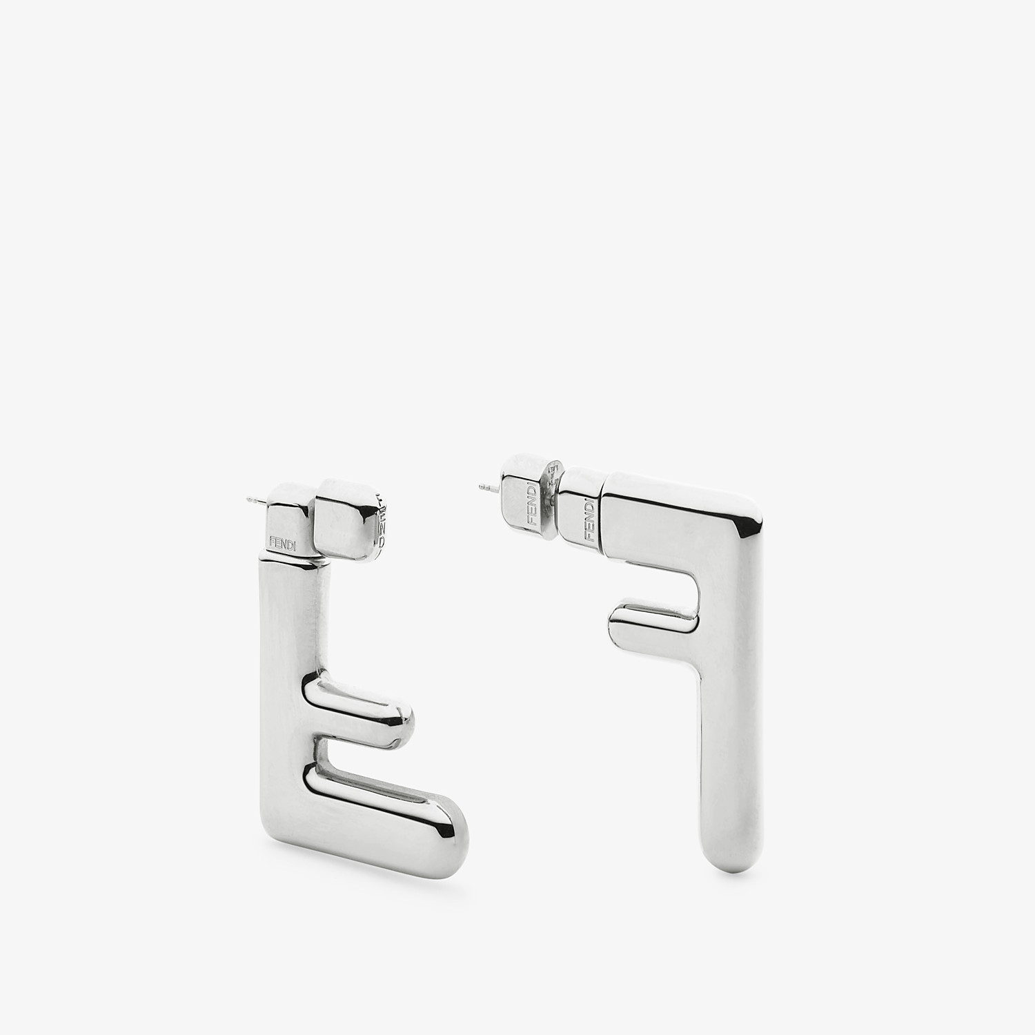 FENDI FF EARRINGS SMALL - Silver-colored earrings - view 2 detail