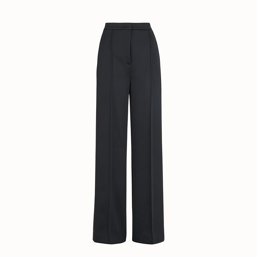 FENDI PANTALON - Pantalon en jersey noir - view 1 detail