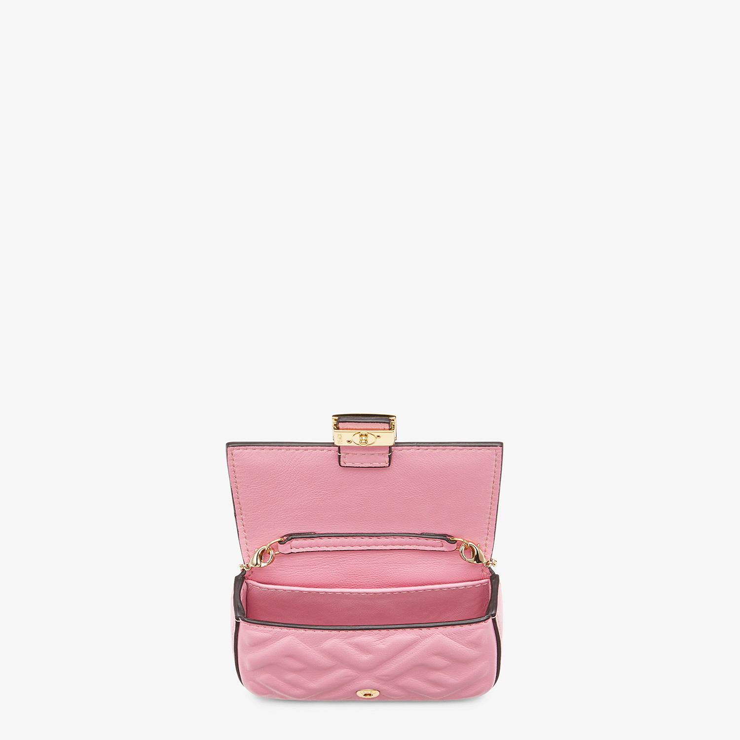 FENDI NANO BAGUETTE CHARM - Charm in pink nappa leather - view 5 detail