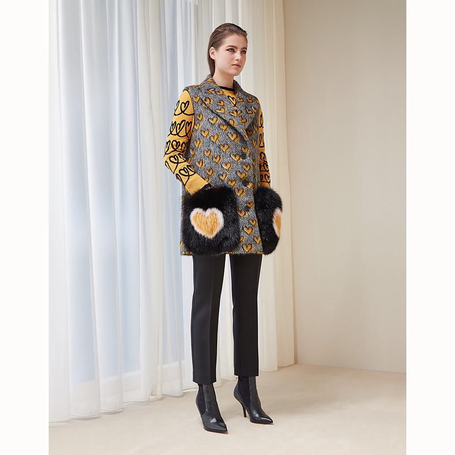 FENDI HAUT SANS MANCHES - Haut sans manches en laine mohair multicolore - view 4 detail