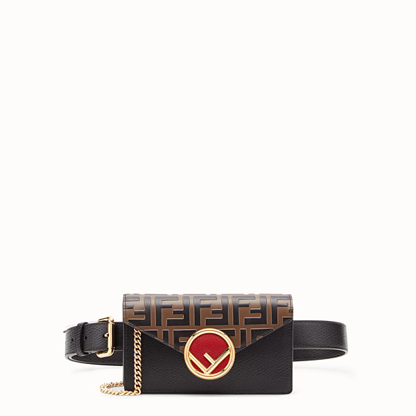 FENDI BELT BAG - Multicolour leather belt bag - view 1 small thumbnail
