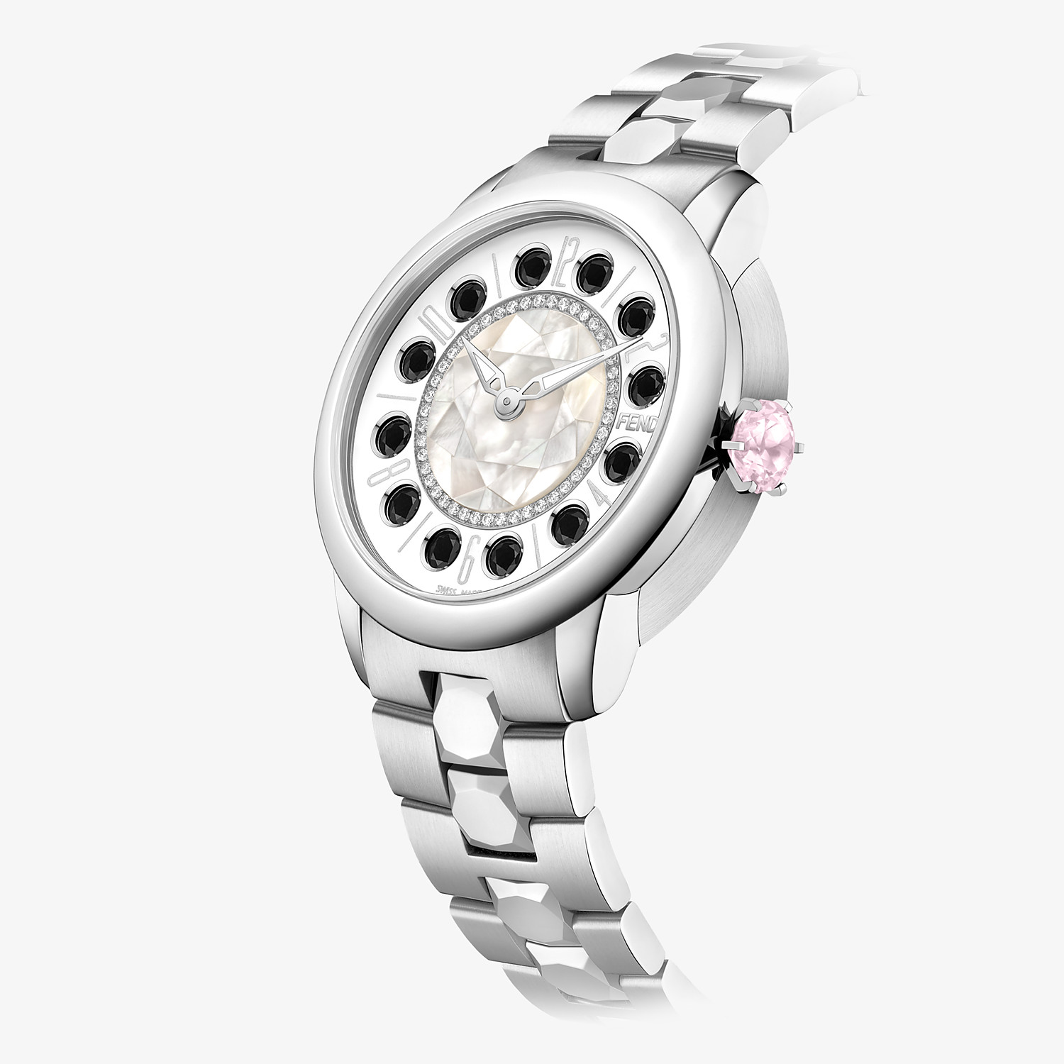 FENDI FENDI ISHINE - 38 MM - Watch with diamonds and rotating gemstones - view 3 detail