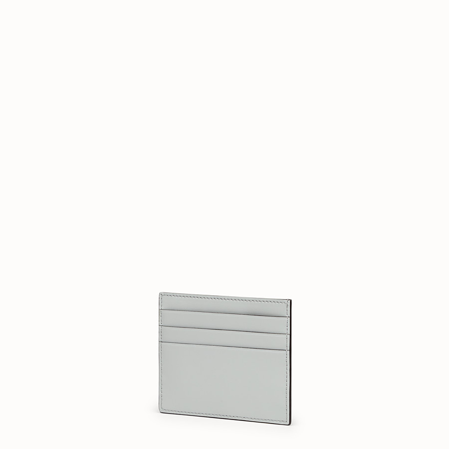 FENDI CARD HOLDER - Grey leather flat card holder - view 2 detail