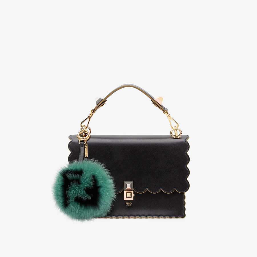 FENDI POM-POM CHARM - Green fur charm - view 2 detail