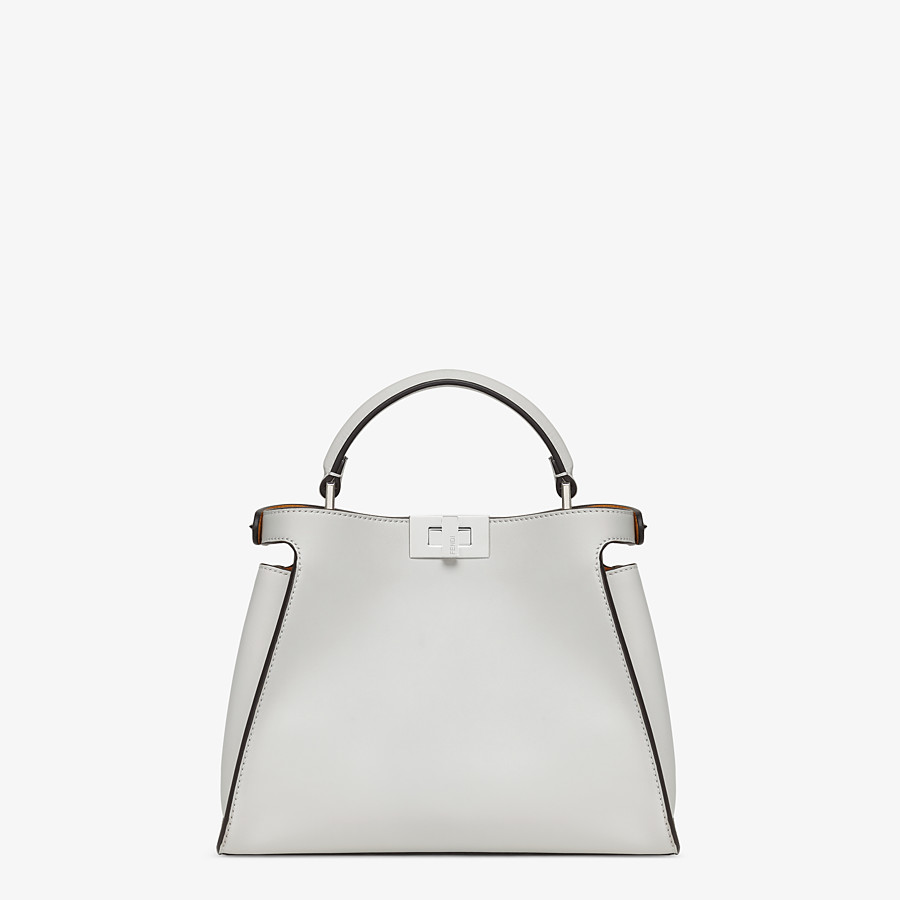 FENDI PEEKABOO ICONIC ESSENTIALLY - Gray leather bag - view 4 detail