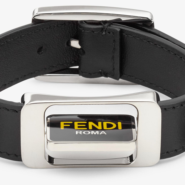 FENDI BRACELET - Black leather bracelet - view 3 detail