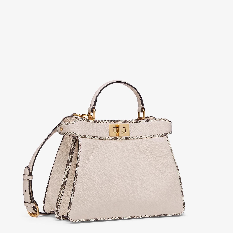 FENDI PEEKABOO ISEEU SMALL - White full grain leather and elaphe bag - view 2 detail
