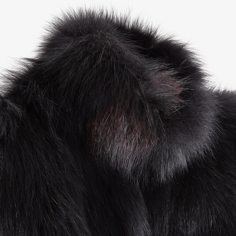 FENDI CAPE - Black fur cape - view 3 detail