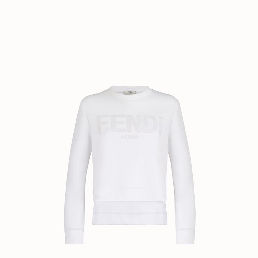 FENDI SWEATSHIRT - White cotton sweatshirt - view 1 detail