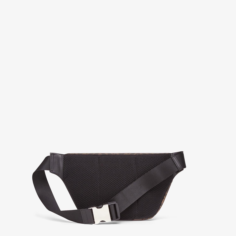 FENDI BELT BAG - Brown fabric belt bag - view 3 detail
