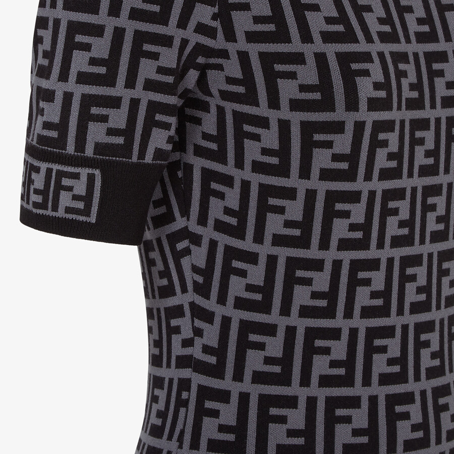 FENDI DRESS - FF motif fabric dress - view 3 detail