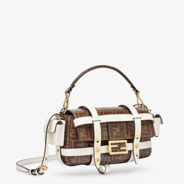 FENDI BAGUETTE CAGE - Brown fabric bag - view 3 thumbnail