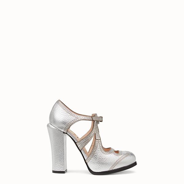 FENDI PUMPS - Silver leather cut-out pumps - view 1 small thumbnail