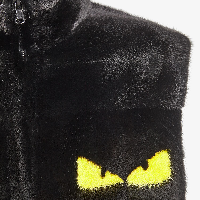 FENDI VEST - Black mink vest - view 3 detail