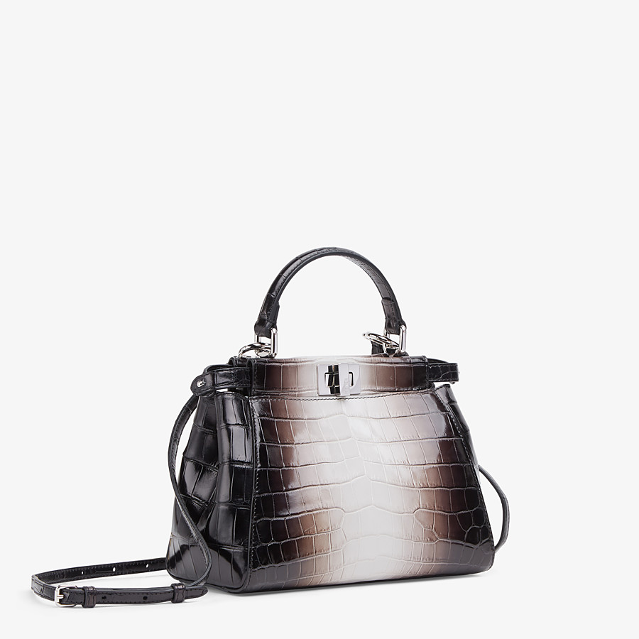 FENDI PEEKABOO ICONIC MINI - Crocodile leather bag in graduated colors - view 2 detail