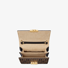 FENDI KAN U SMALL - Brown leather mini-bag - view 5 thumbnail